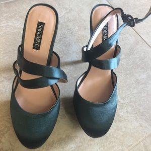 Emerald green heels